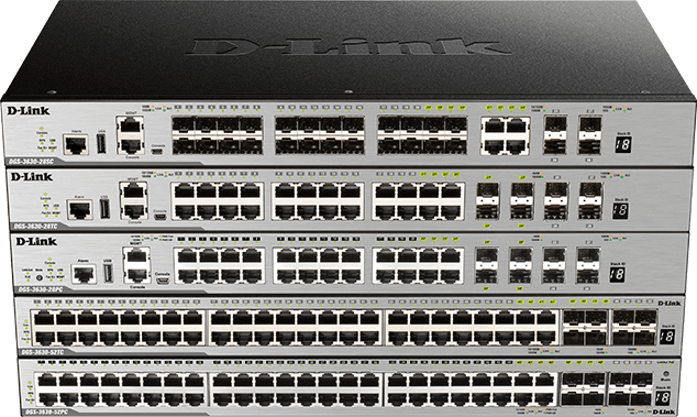 DGS-3630 Series - Gigabit Layer 3 Stackable Managed Switches